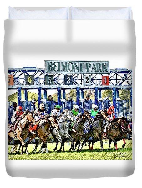 Belmont Park Starting Gate 1 Duvet Cover