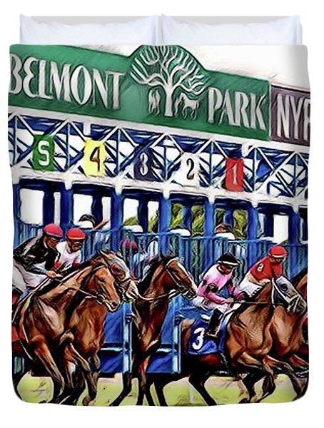 Belmont Park Starting Gate 2 Duvet Cover