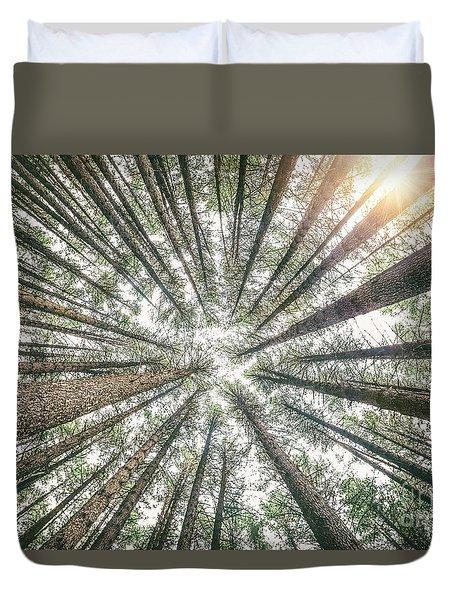 Below The Treetops Duvet Cover