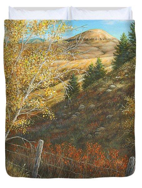 Belt Butte Autumn Duvet Cover