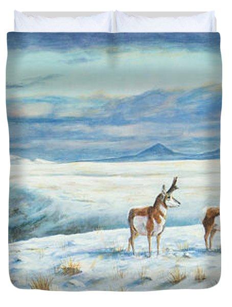 Belt Butte Winter Duvet Cover