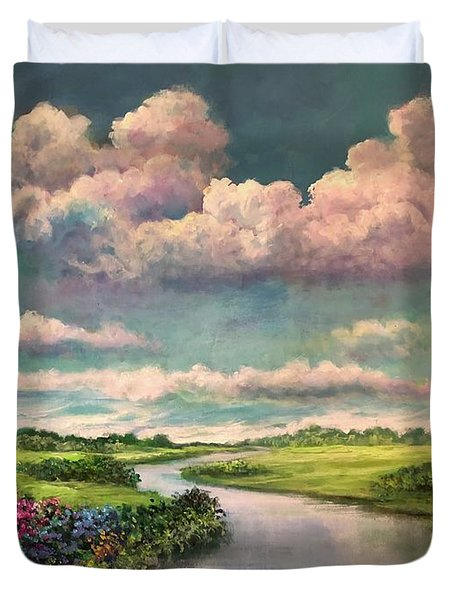 Beneath The Clouds Of Paradise Duvet Cover