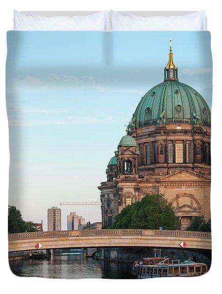 Berliner Dom And River Spree In Berlin Duvet Cover
