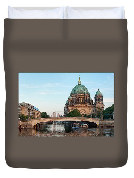 Berliner Dom And River Spree In Berlin Duvet Cover