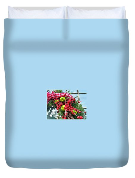 Duvet Cover featuring the photograph Berry Christmas by Don Moore