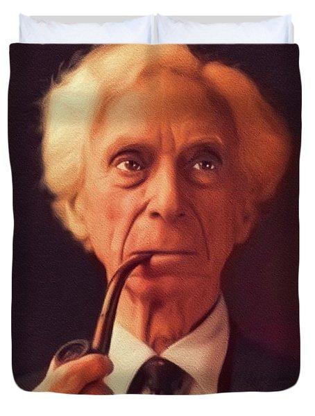 Bertrand Russell, Philosopher Duvet Cover