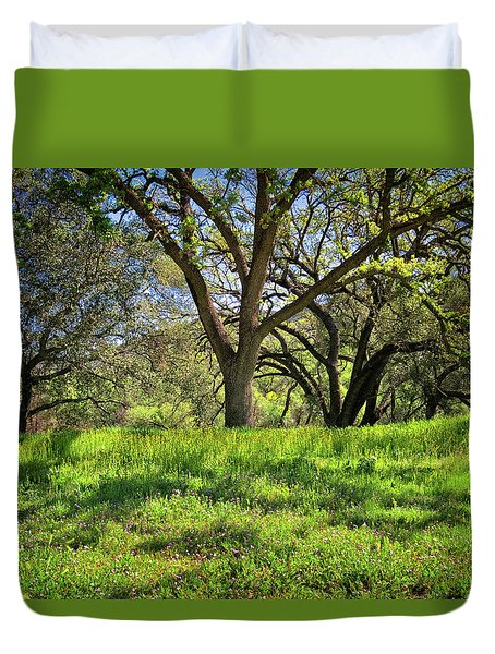 Duvet Cover featuring the photograph Better Days At The Paramount Ranch In Malibu by Lynn Bauer