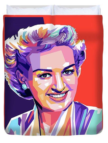 Betty Grable Pop Art Duvet Cover