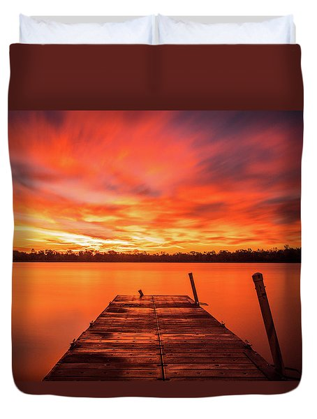 Duvet Cover featuring the photograph Beyond by Dan Sproul