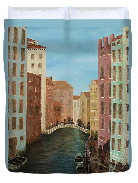 Beyond The Grand Canal Duvet Cover