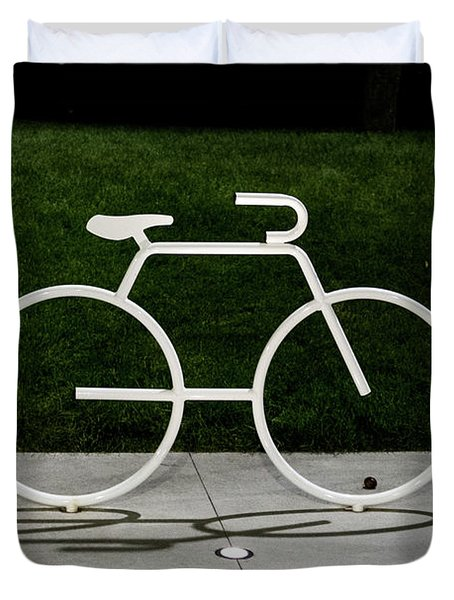 Duvet Cover featuring the photograph Bicycle by Randy Scherkenbach