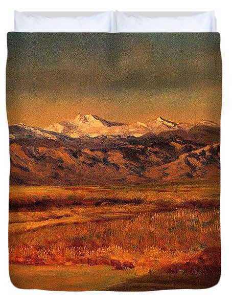 Bierstadt_albert_the_grand_tetons Duvet Cover