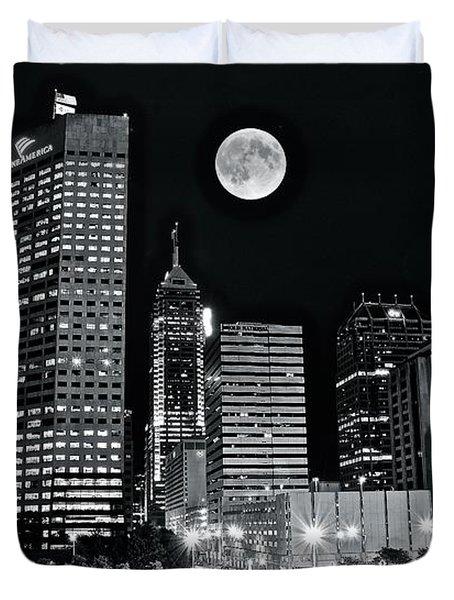 Big Moon Indianapolis 2019 Duvet Cover