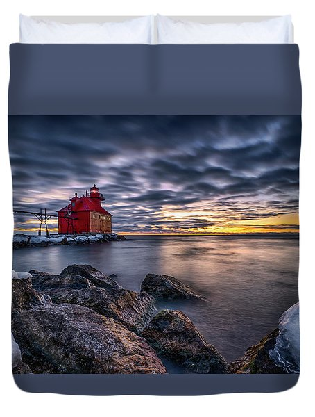 Big Red Duvet Cover
