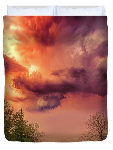 Big Sky Cades Cove Tennessee Duvet Cover