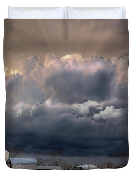 Big Sky Michigan Farmland Duvet Cover