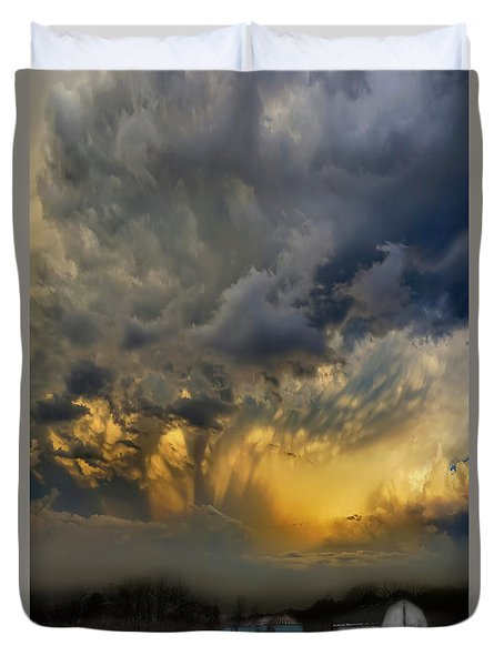 Big Sky Yellow Light Duvet Cover