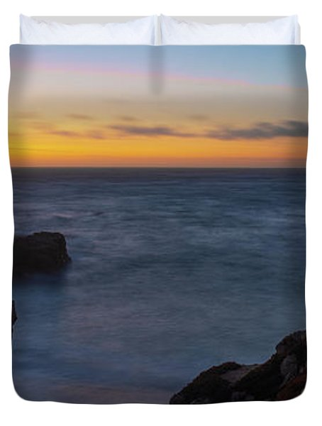 Big Sur California Sunset Duvet Cover
