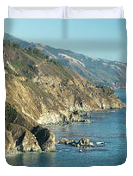 Big Sur Sunset Light Duvet Cover