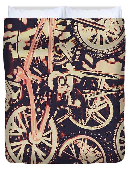 Bike Mountain Duvet Cover