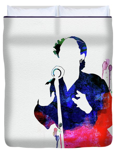 Billie Holiday Watercolor Duvet Cover