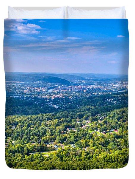 Binghamton Aerial View Duvet Cover