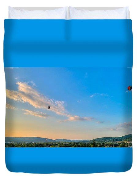 Binghamton Spiedie Festival Air Ballon Launch Duvet Cover