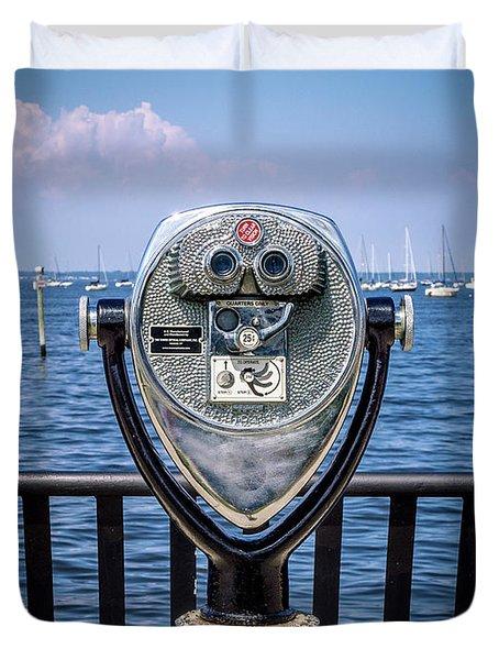 Binocular Viewer Duvet Cover
