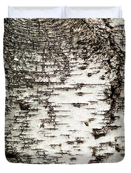 Birch Tree Bark Duvet Cover