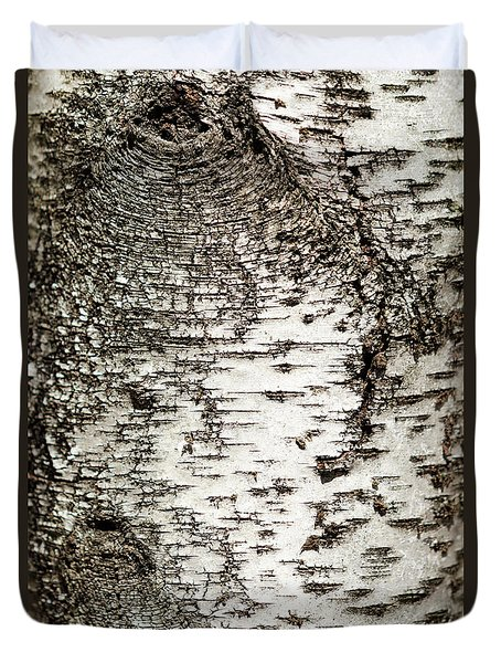 Birch Tree Bark Duvet Cover