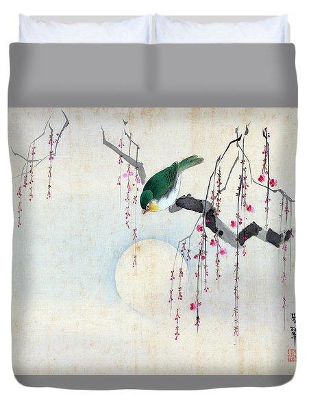 Bird And Moon Duvet Cover