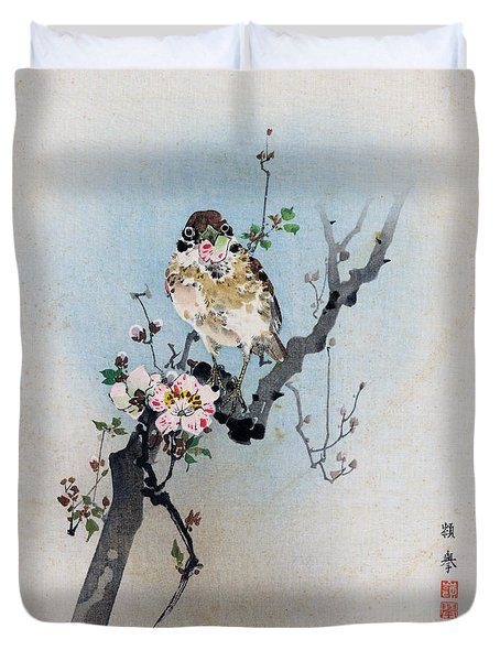 Bird And Petal Duvet Cover