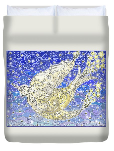 Bird Generating Stars Duvet Cover