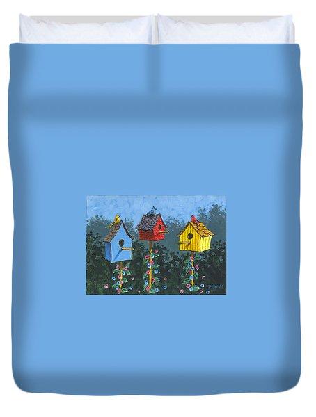 Bird House Lane Sketch Duvet Cover