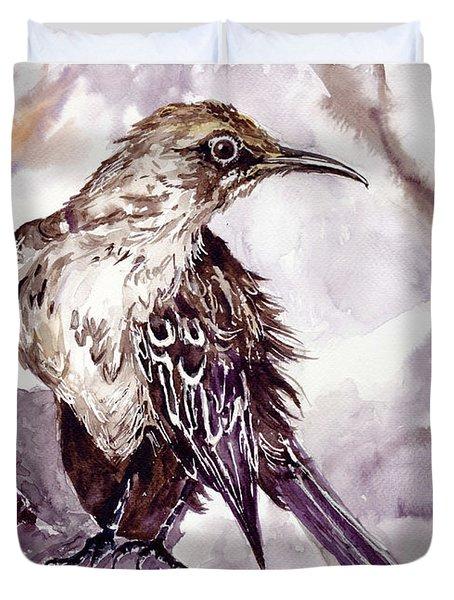 Bird On The Rock Duvet Cover