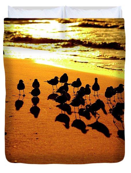 Bird Shadows Duvet Cover