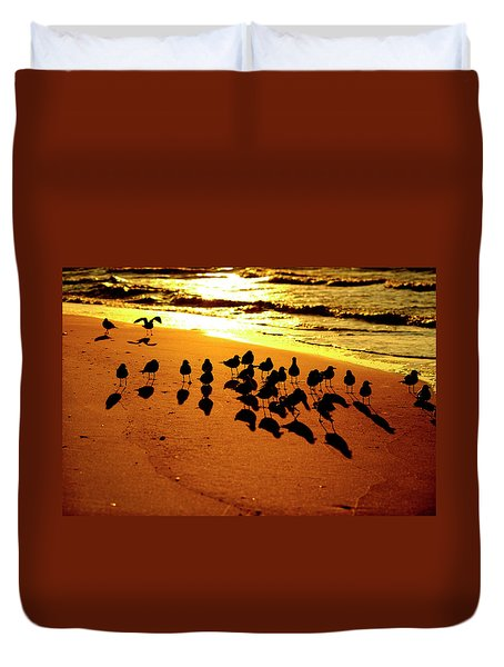 Bird Shadows Duvet Cover