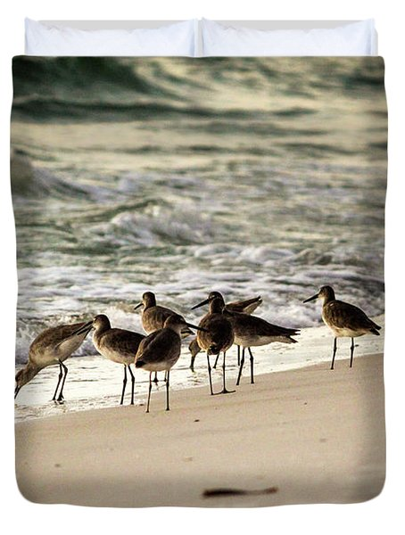 Birds On The Beach Duvet Cover
