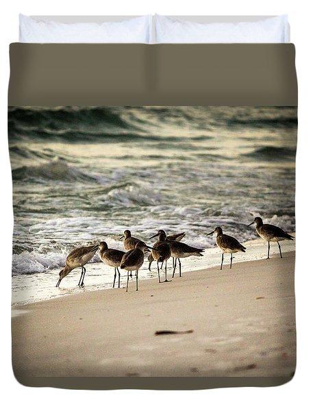 Birds On The Beach Duvet Cover