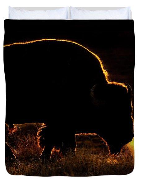 Bison Breath Duvet Cover