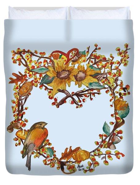 Bittersweet Wreath Duvet Cover