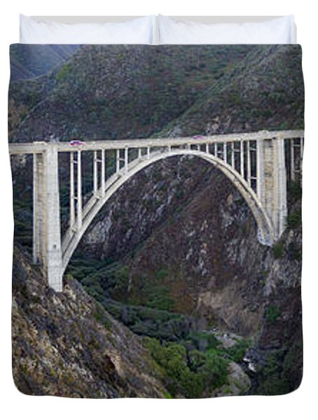 Bixby Bridge Big Sur California Duvet Cover