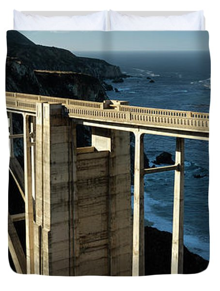Bixby Bridge California Panorama Duvet Cover