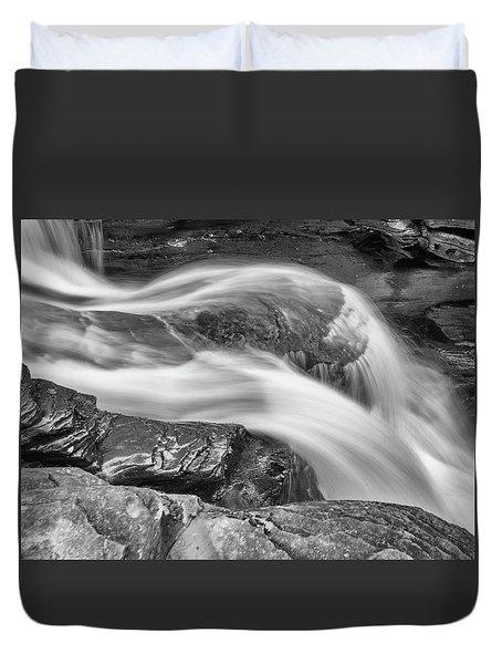 Black And White Rushing Water Duvet Cover