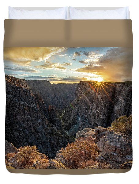 Black Canyon Sendoff Duvet Cover