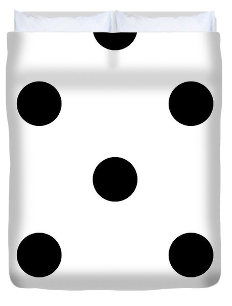 Black Dots On A White Background- Ddh610 Duvet Cover