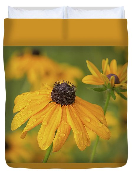 Duvet Cover featuring the photograph Black-eyed Susans by Dale Kincaid