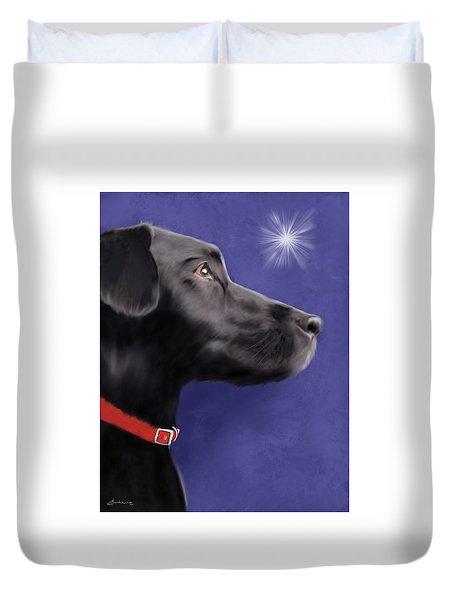 Black Labrador Retriever - Wish Upon A Star  Duvet Cover