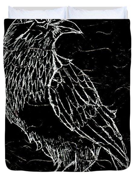 Black Raven Duvet Cover