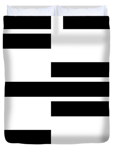 Black Rectangles I Duvet Cover
